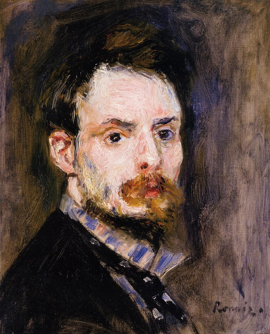 Self Portrait, Pierre Auguste Renoir, 1875